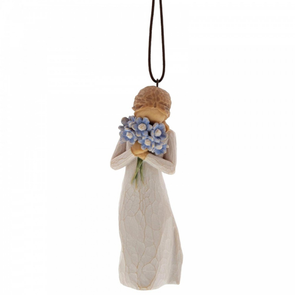 <span style='color: #000000;'>Forget Me Not Hanging Ornament</span>