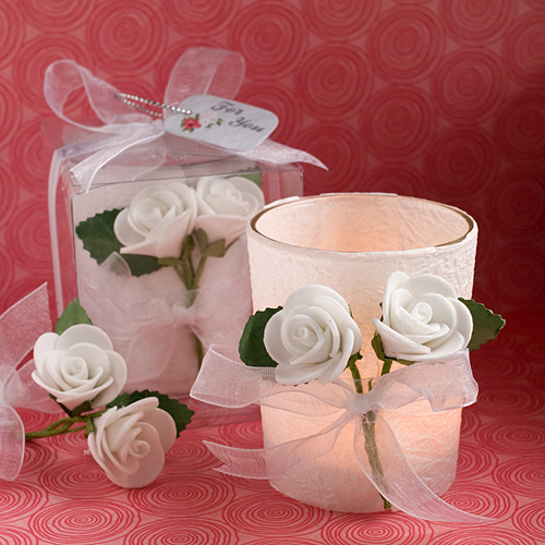 White Rose Candle Favours