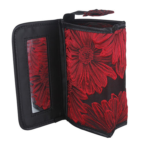 <span style='color: #000000;'>Make Up Bag with Mirror - Red Flora - ONLY 1 LEFT IN STOCK</span>