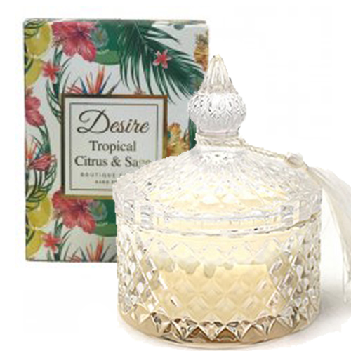 <span style='color: #000000;'>Desire Tropical Candle Jar - Tropical Citrus & Sage</span>