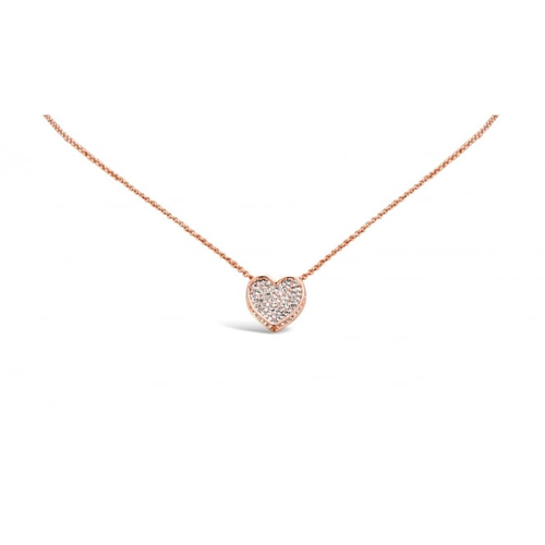 Delicate Rose Gold Plated Rope Chain Pendant