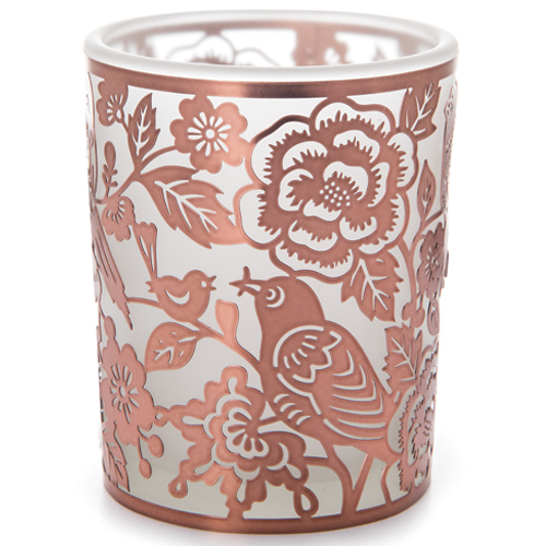 <span style='color: #000000;'>Copper Birds Nesting in Flowers Votive Candle Holder - ONLY 1 LEFT IN STOCK</span>