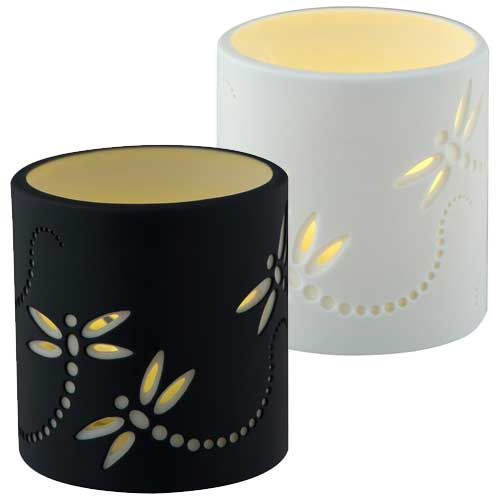 <span style='color: #000000;'>Dragonfly Porcelain Tealight Holder Collection - SOLD OUT</span>