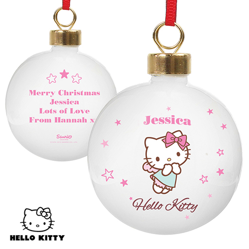 Personalised Hello Kitty Fairy Bauble